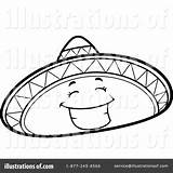 Sombrero Clipart Mexican Hat Coloring Drawing Illustration Thoman Cory Royalty Printable Pages Getdrawings Getcolorings Rf sketch template