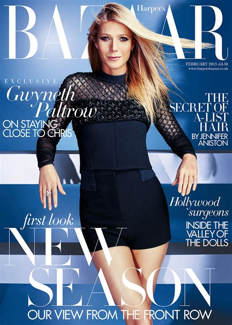 Goop Gwyneth Paltrow Cover by Gwyneth Paltrow Harper S Bazaar February Issue Cover