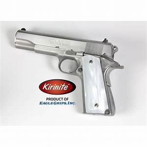 Colt Officers Model 1911 Kirinite U2122 White Pearl Grips
