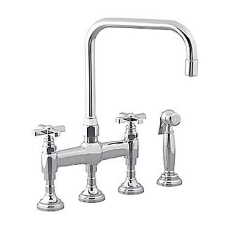 kallista kitchen faucets kallista for town by michael s smith kitchen faucet with sidespray cross handles p23051 cr