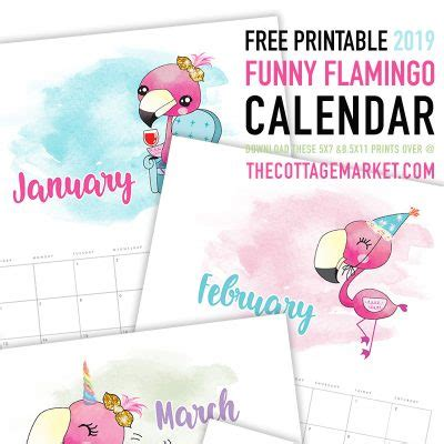 printable calendars collection cottage market