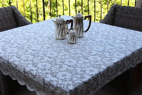 decor lovely lace tablecloths  dining table decoration
