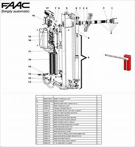 Faac B650h    B680h Exploded Diagram