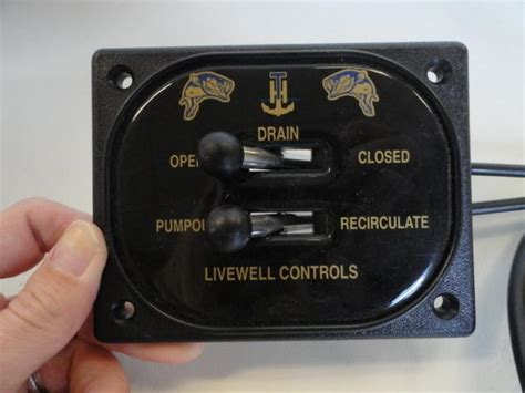 sell  marine livewell panel remote drain control   ft