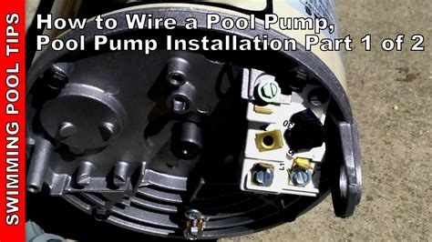 Superflo And Motor Wiring Diagram by How To Wire A Pool Pool Installation Part 1 Of