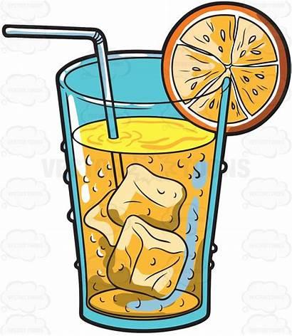 Juice Cold Clipart Orange Drink Drinks Drinking