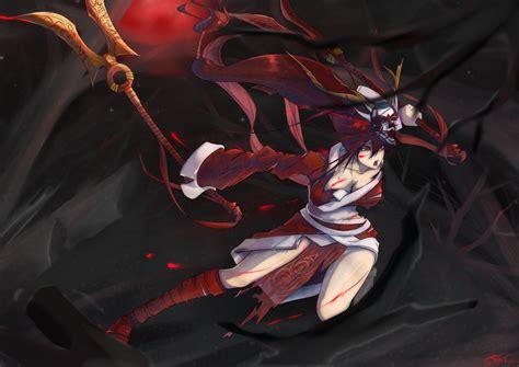 Blood Moon Akali Wallpaper Lol 阿卡莉 Akali 血月舞忍 Lol 阿卡莉 血月舞忍