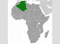 Mapa de Argelia, donde está, queda, país, encuentra