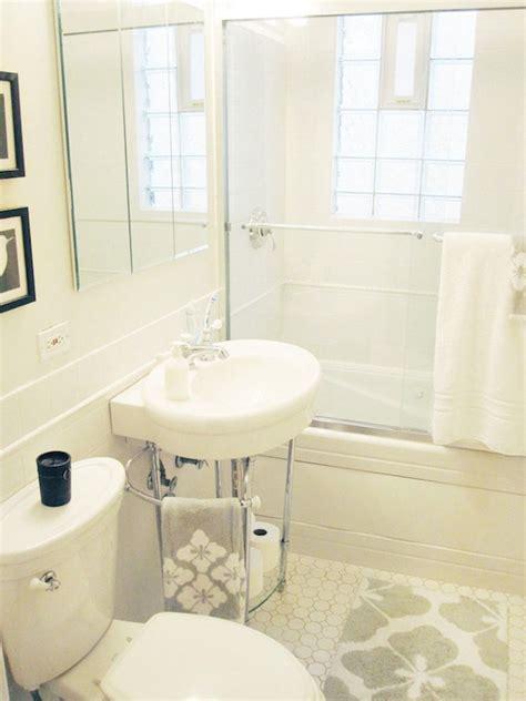 alaina kaczmarski chic bathroom design  white