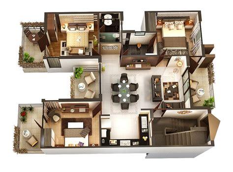 50 Three 3 Bedroom Apartment/House Plans Bedroom