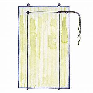 Make a roll up blind thread the cord through the screw eyes for How to make roll up curtains