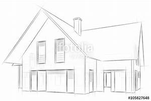 Haus Strichzeichnung Einfach : architecture sketch drawing house stockfotos und lizenzfreie bilder auf bild ~ Watch28wear.com Haus und Dekorationen