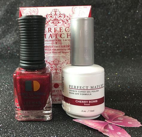 lechat cherry bomb perfect match gel polish nail lacquer