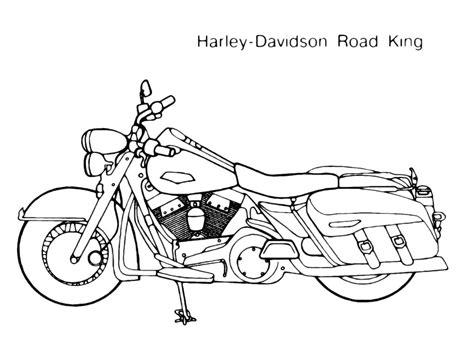 moto disegno da colorare harley road king disegni da