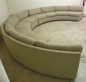 Large curved milo baughman sectional sofa at 1stdibs for Largest sectional sofa