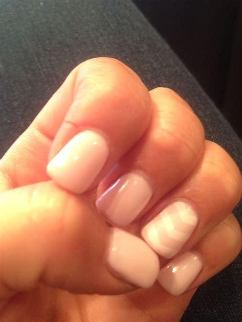 vögel arm nails gelpolish chevron manicure gelnails babypink tarnows hair and day spa salmon arm