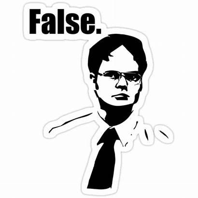 Dwight Schrute False Stickers Redbubble Sticker Portfolio