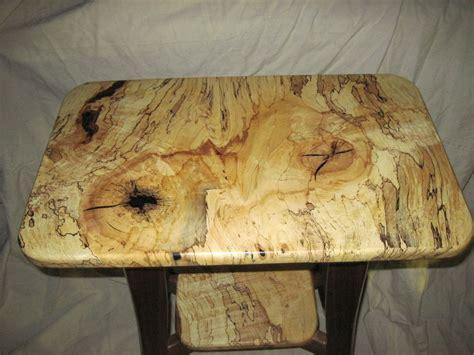 handmade spalted maple table  everlasting woods