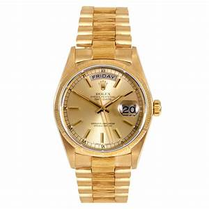 Pre-Owned Rolex Men's 18k Yellow Gold Presidential ...