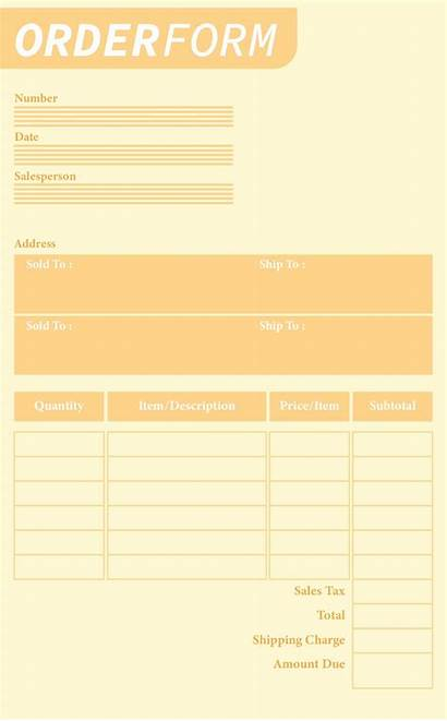 Forms Order Printable Form Blank Template Templates