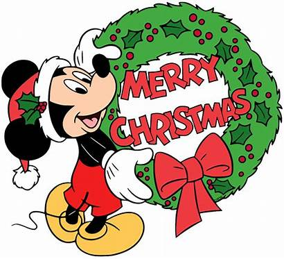 Mickey Christmas Clip Merry Mouse Disney Santa
