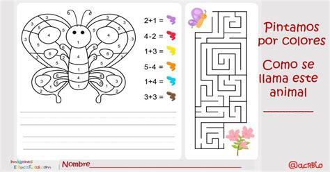 Pintamos por colores y números Actividades matemáticas