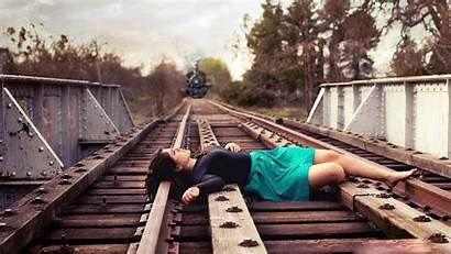 Sad Lonely 1080p Wallpapers Backgrounds Train Tracks