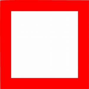 Red square outline icon - Free red shape icons