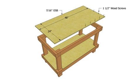 woodwork plans  build workbench  plans