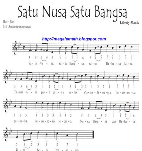 notasi angka lagu mengheningkan cipta not lagu wajib nasional indonesia fida zalfa