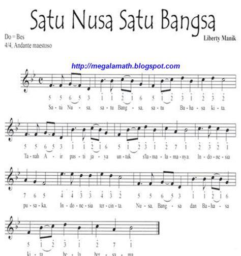 not angka pianika lagu indonesia pusaka not lagu wajib nasional indonesia fida zalfa