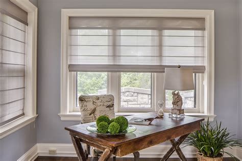 Douglas Window Treatments by A Home Office With The Chic Light Filtering Charm Of