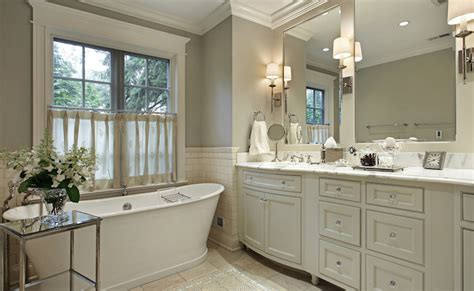 Ivory and Gray bathroom Traditional bathroom Benjamin Moore Paris Rain Robert Frank Design