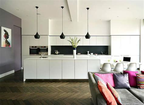 lustre cuisine moderne ambiance cosy par le luminaire led dans une cuisine