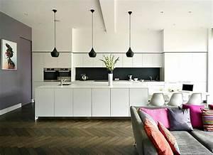 Cuisine Moderne Design : ambiance cosy par le luminaire led dans une cuisine moderne design feria ~ Preciouscoupons.com Idées de Décoration
