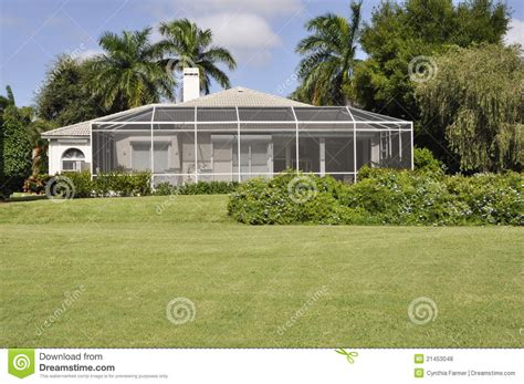 screened patio in naples florida royalty free stock photos