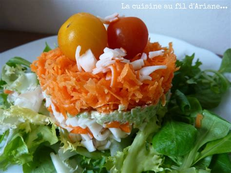 la cuisine d ariane salade surimi carottes avocat la cuisine au fil d 39 ariane