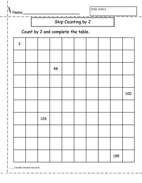 Skip Count By 2 Worksheets  Activity Shelter