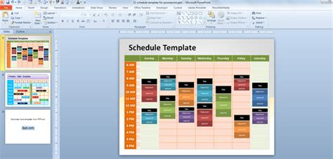 Time Schedule Template Powerpoint by Free Editable Schedule Template For Powerpoint
