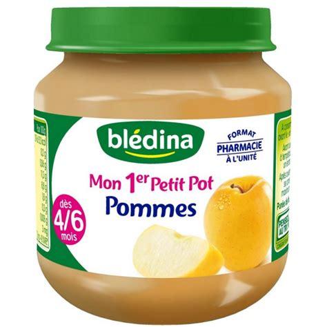 mon premier petit pot bledina mon 1er petit pot fruit 130 g 4 6 mois pomme par 1