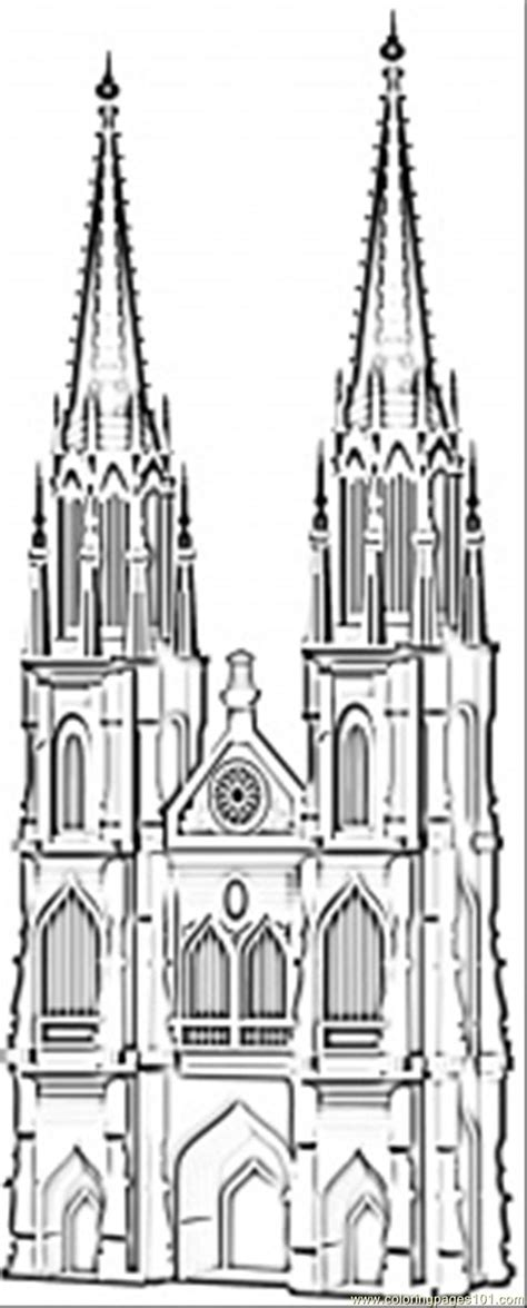 famous cathedral  koln coloring page  germany coloring pages coloringpagescom