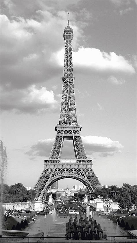 Black Wallpaper Iphone Eiffel Tower by Nature