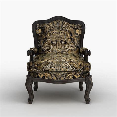 louis xv classic chair 3d model max obj cgtrader