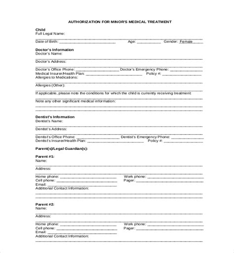 18579 release form for child authorization release form minors pictures to pin