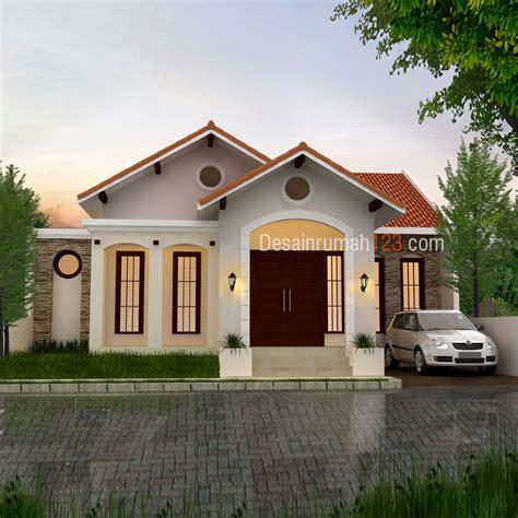 model teras rumah atap segitiga