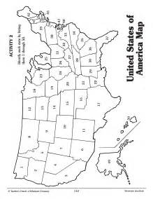 Map of United States Coloring Page
