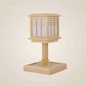 Wood Table Lamps for Bedroom Japanese Style Modern Bedside ...