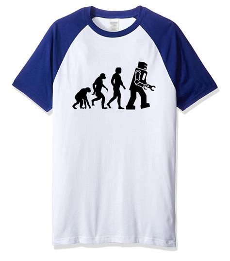 aliexpress com buy t shirt 2018 print the big theory robot evolution t shirt top summer