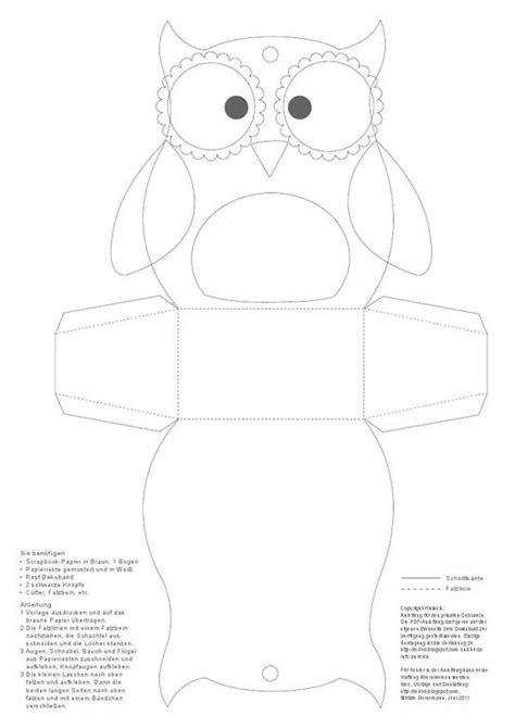 Treat Favor Box Template by Patrons Bo 238 Te D Hibou And Pour Enfants On Pinterest