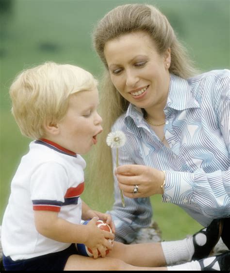 Princess Anne And Her Son Peter Phillips At Their Home In